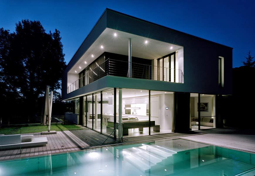 Neubau eines einfamilienhauses mit garage und pool karlsruhe - Pool karlsruhe ...