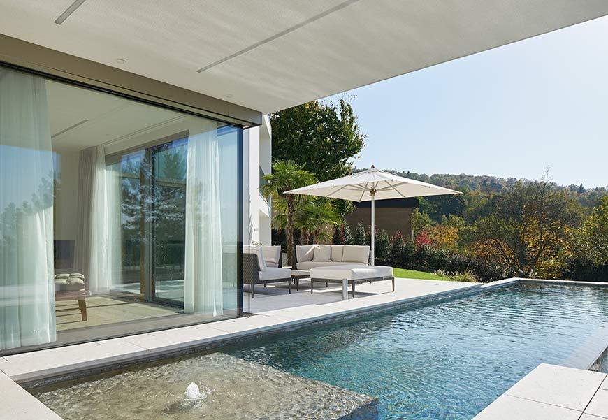 Neubau eines wohnhauses mit doppelgarage und pool - Pool karlsruhe ...